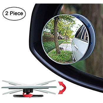 Amazon Com Ampper Blind Spot Mirror 2 Round Hd Glass Frameless Convex Rear View Mirror Pack Of 2 Autom Blind Spot Mirrors Rear View Mirror Side Mirror Car