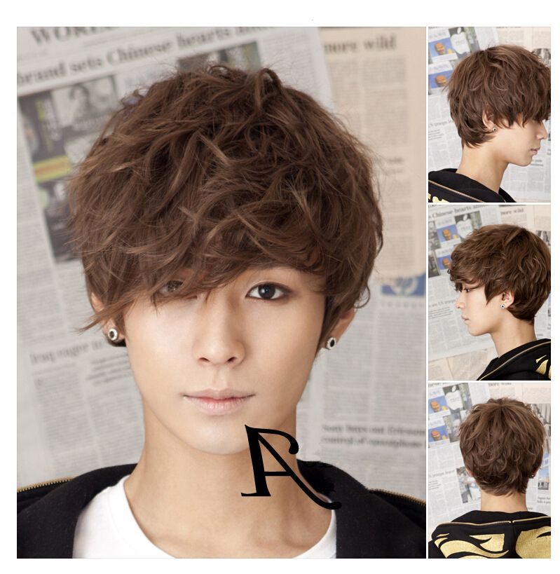 Korean Curly Short Hair Haircuts Ideas Curly Hair Styles Textured Curly Hair Boy Hairstyles