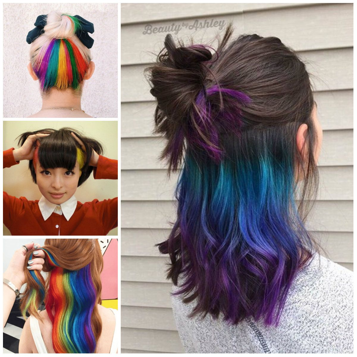 Images about hair colors and styles on pinterest - Bold Hidden Hair Color Ideas For 2017