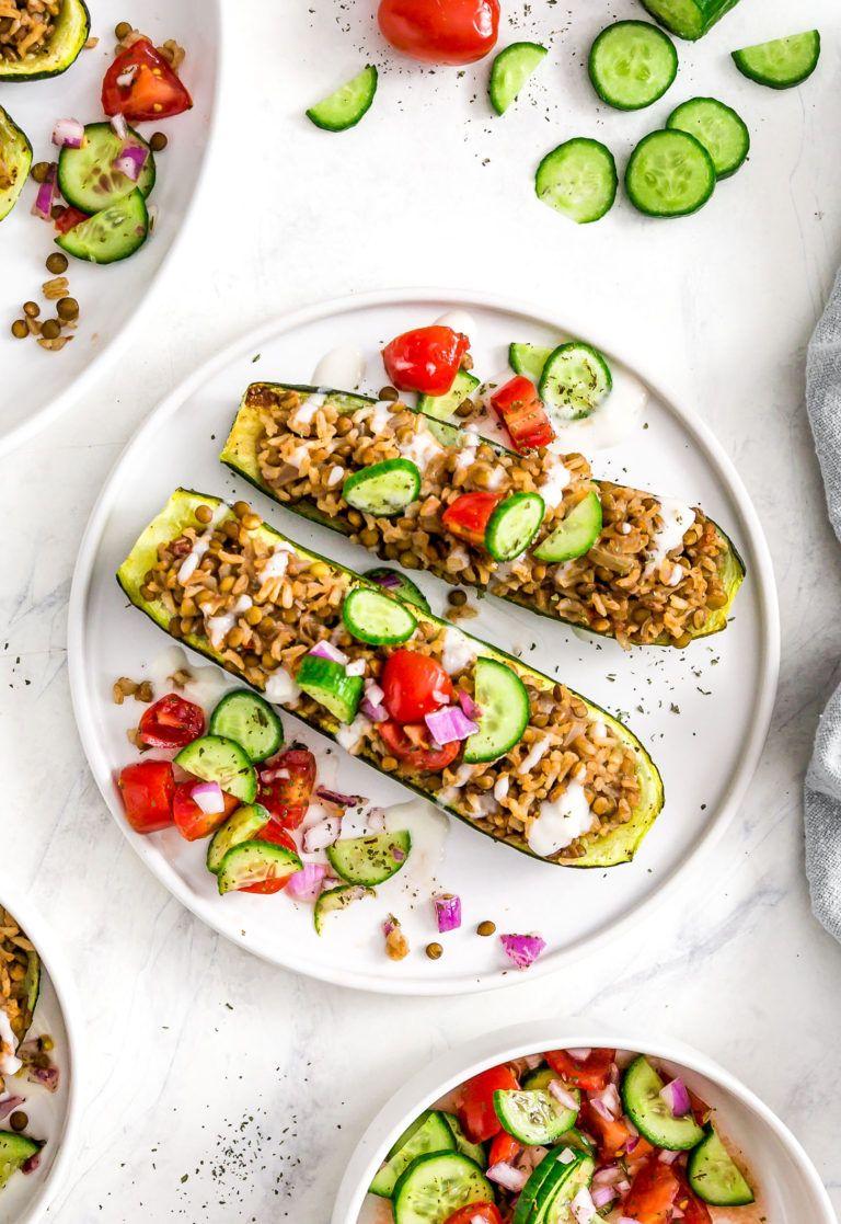 Middle Eastern Stuffed Zucchini Boats Recipe Zucchini