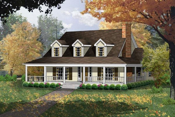 Country Style House Plan 77080 With 4 Bed 3 Bath Country Style House Plans Country House Plans Cape Cod House Plans