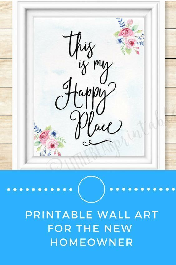 this is my happy place, printable quote, instant download