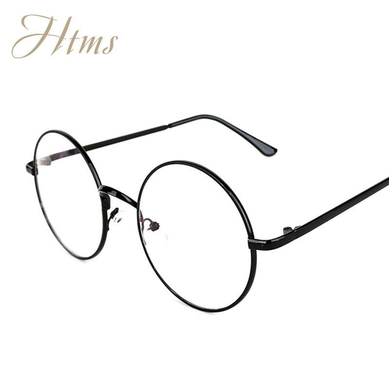 b36be74bf2cc9 Vintage Round Glasses Female Brand Designer gafas De Sol Spectacle Plain  Glasses Gafas De Sol Oculos