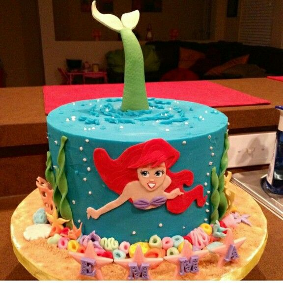 Ariel cake Desserts and candies Pinterest Ariel cake Cake