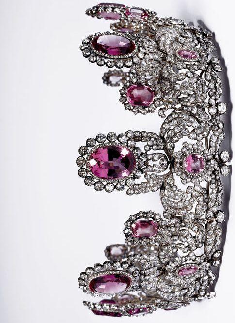 Rose topaz and diamond tiara of Princess Marie of Wurttemberg