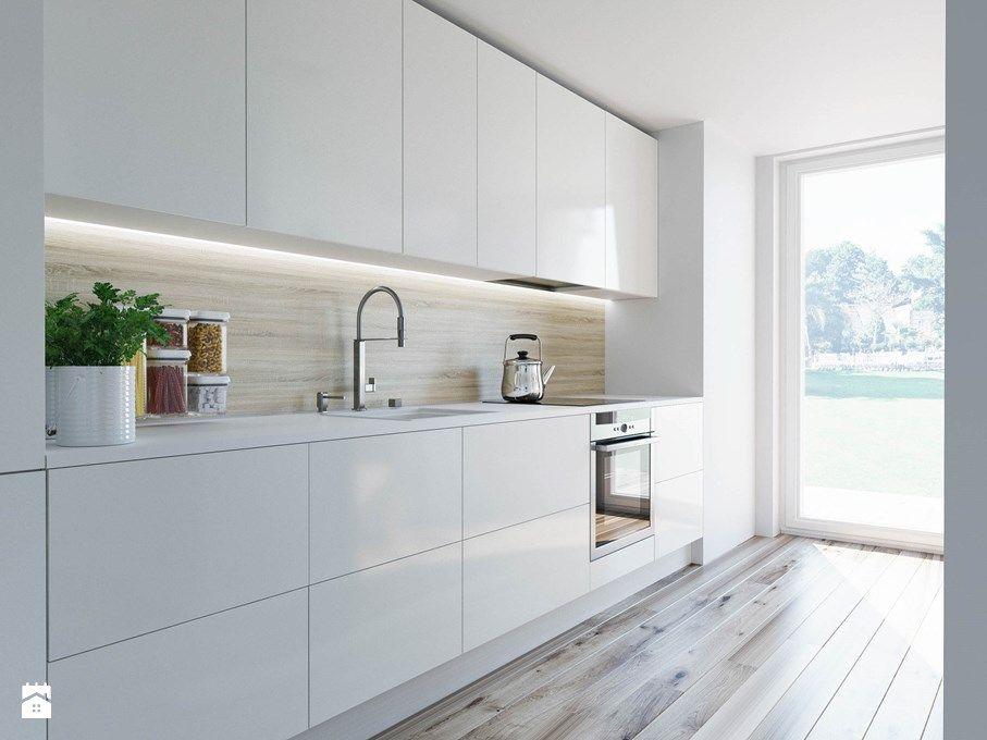 biała kuchnia okap schowany  Dom  Home  Pinterest -> Kuchnia Weglowa Okap
