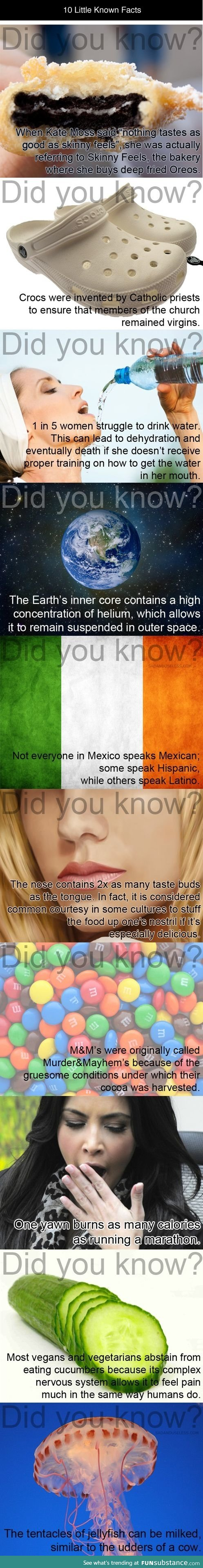 The more you know