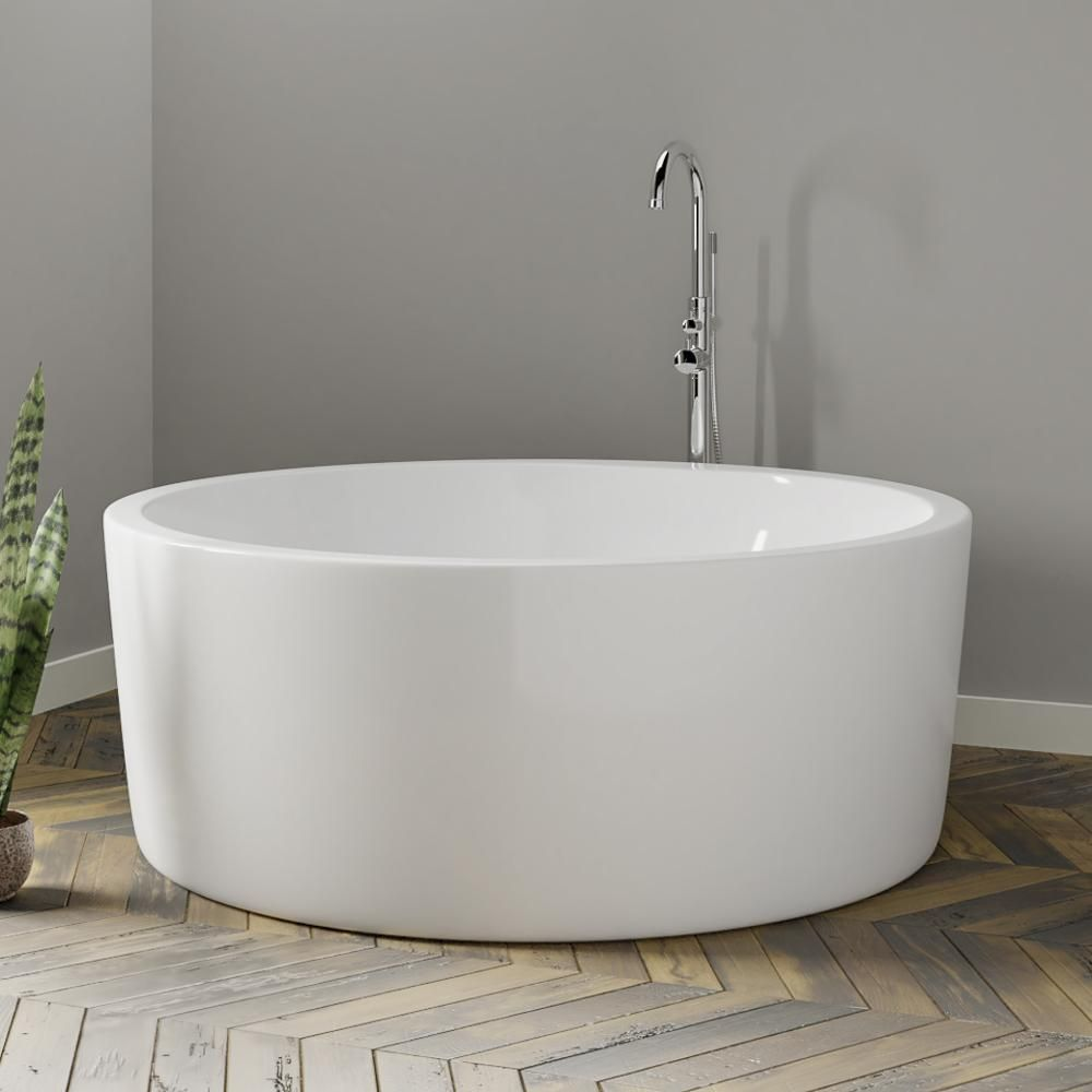 59 Anderson Acrylic Round Soaking Freestanding Tub With Images