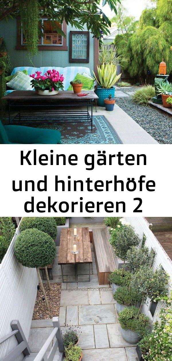 Kleine gärten und hinterhöfe dekorieren 2 #innenhofgestaltung