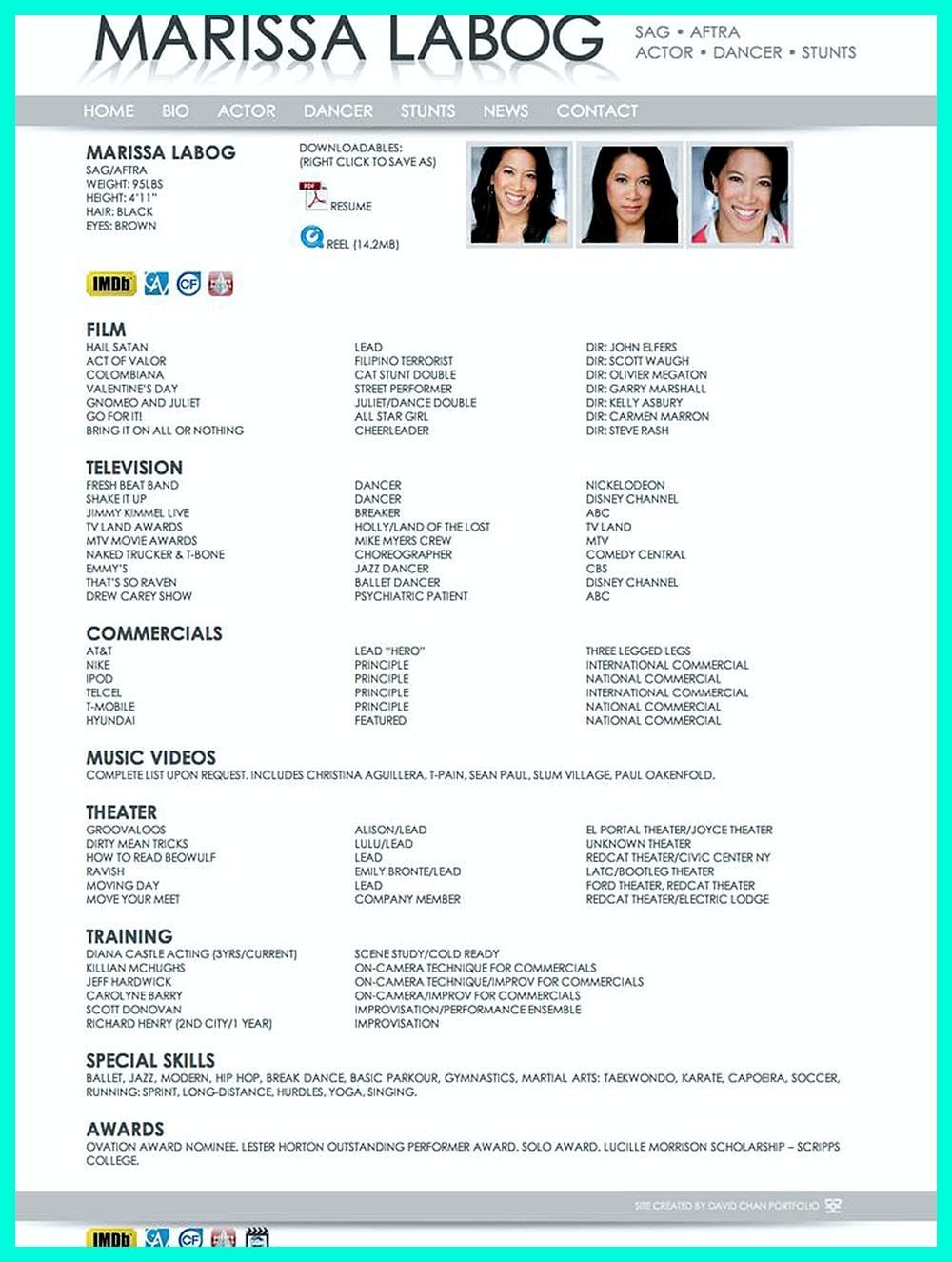 Dance Resume Can Be Used For Both Novice And Professional Dancer Most Job Of Dancer Has Minimum Requirements That Not All Dance Resume Resume Examples Resume