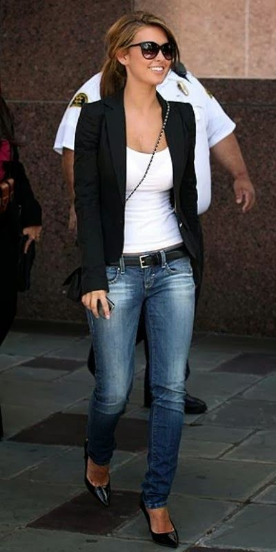 How To Wear A Blazer Jacket With Jeans   Matching Blazers ...