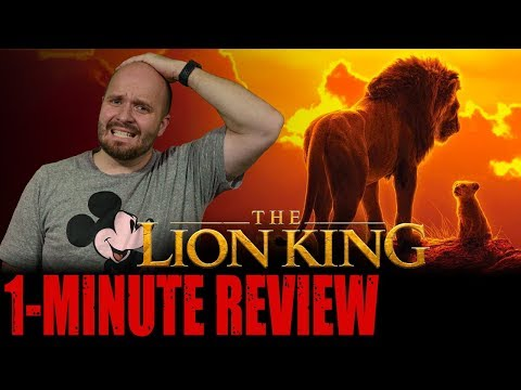 The Lion King 2019 One Minute Movie Review Disney