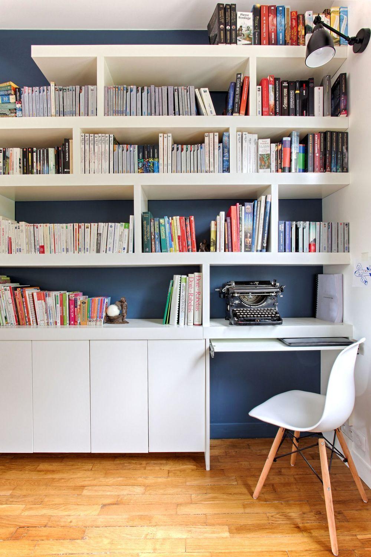 Maison Palaiseau : rénovation d'une ancienne meulière de 70 m2 #polebarndesigns Ce bureau ...