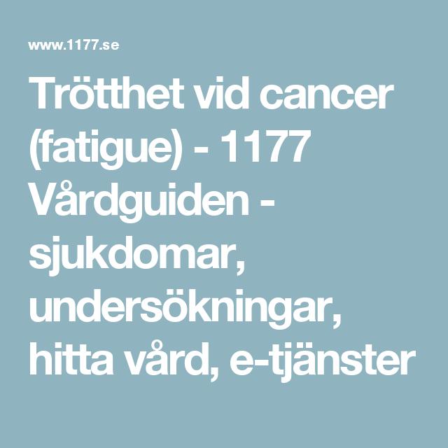 trötthet vid cancer