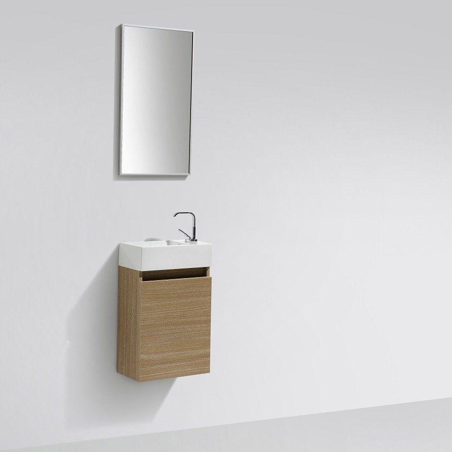 meuble lave main salle de bain design siena largeur 40 cm chne clair - Largeur Salle De Bain