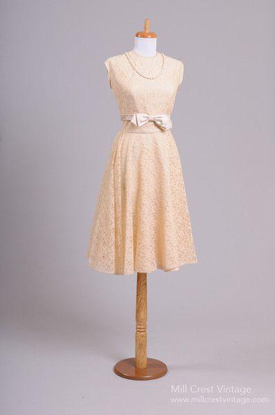 1950 Blush Lace Vintage Wedding Ensemble - Mill Crest Vintage