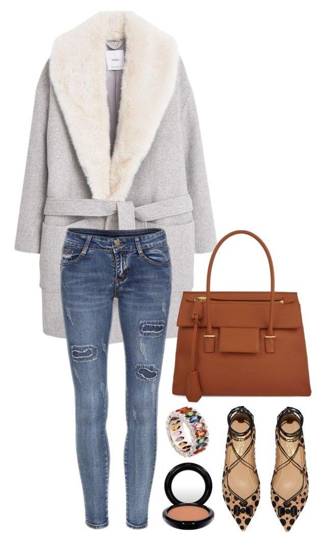 """Mango wool overcoat"" by hotbabesonamission ❤ liked on Polyvore featuring moda, MANGO, Tom Ford, Salvatore Ferragamo, MAC Cosmetics, Niquesa, women's clothing, women's fashion, women e female"