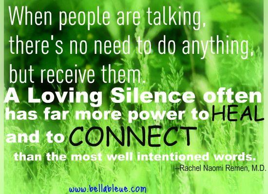 loving silence