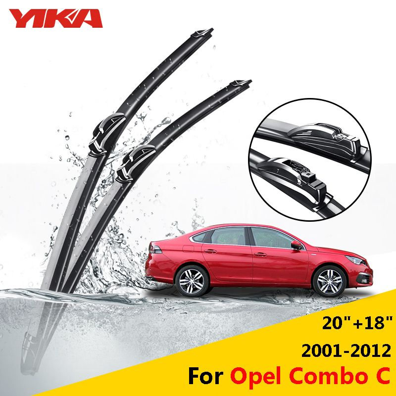 Yika Windshield Glass Wipers Soft Rubber Wiper Blades For Opel