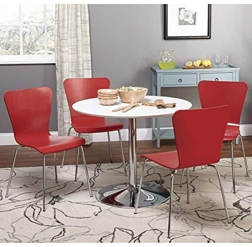 White Chrome Metal Stand Single Pisa #diningtable Table White Contemporary🥰  You'll love the simple contemporary elegance of this dining table.🤩🤗  ☑️Style Contemporary Modern ☑️Finish Black Finish White Finish ☑️Shape Round ☑️Color Black White ☑️Assembly Assembly Required  👉Shop now   #dinningroomdecor #diningroom #dinningroomdesign #dinningtable #furniture #furnituredesign