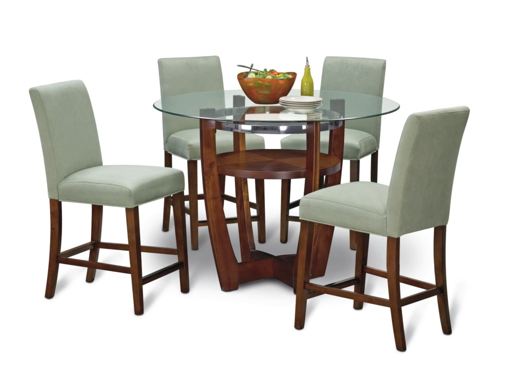 alcove sage 5-pc counter height dinette - value city furniture
