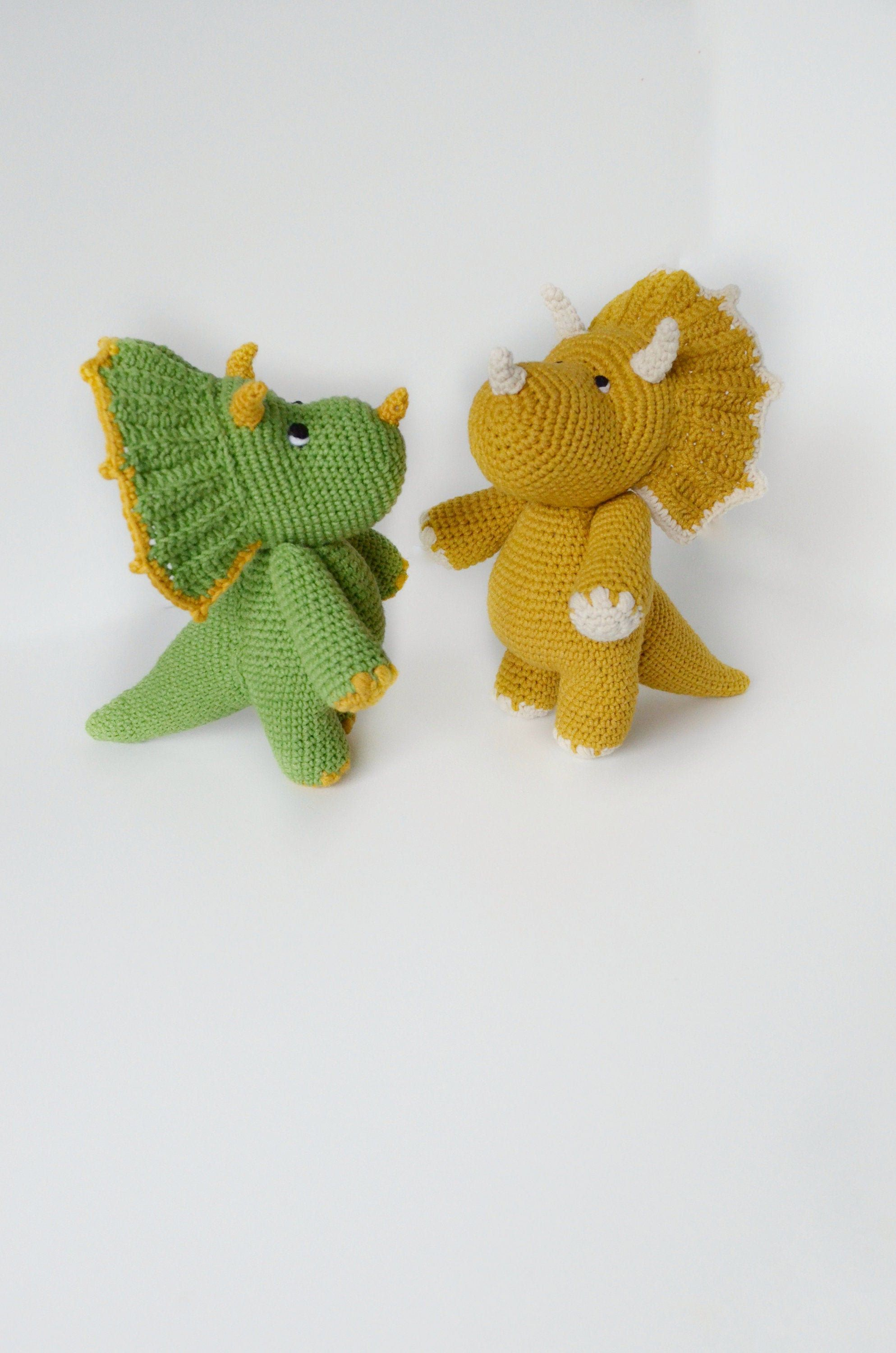 Plush triceratops toy, stuffed dinosaur nursery decor, dinosaur birthday gift