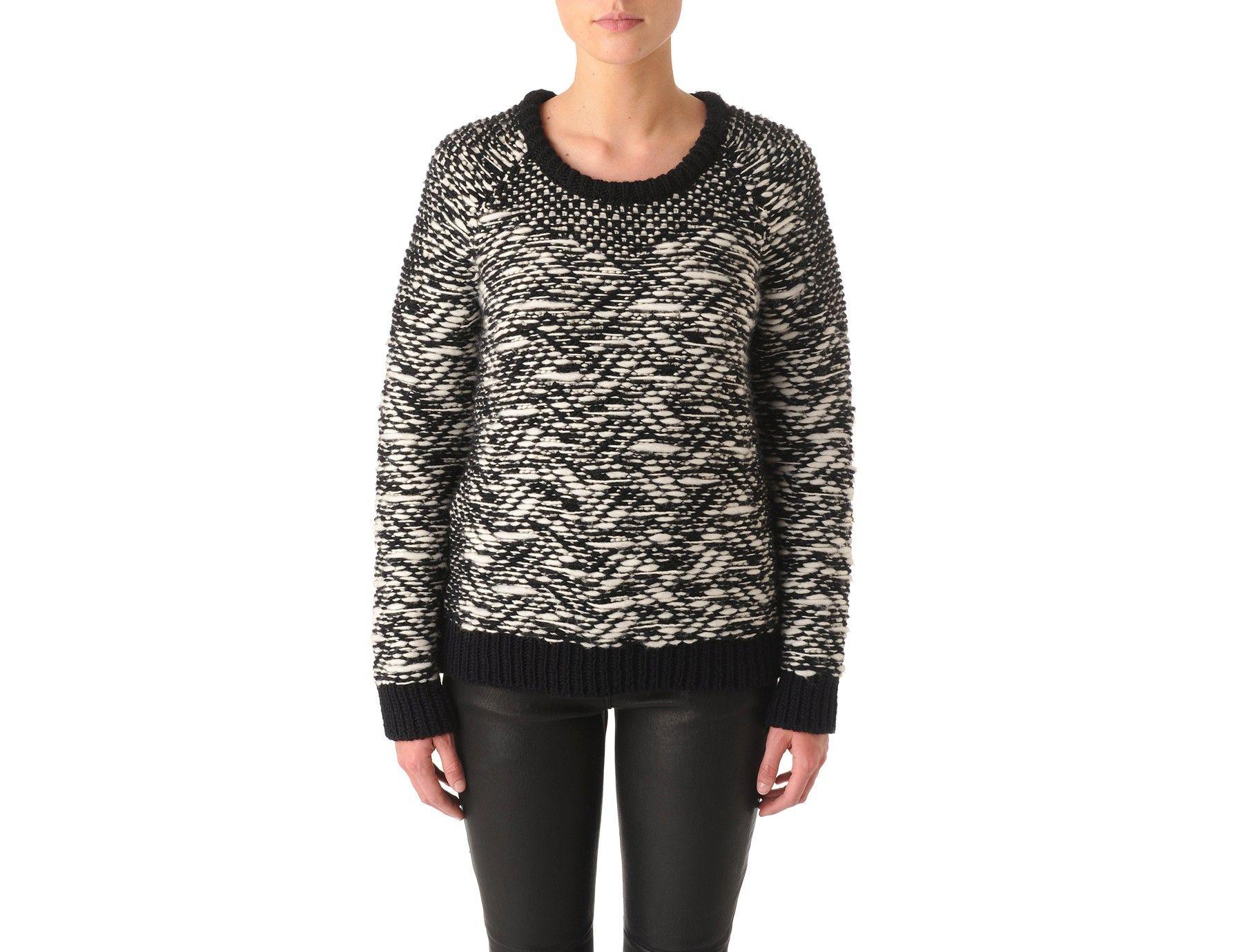 Caterina Sweater - Black and white sweat - Black - Sweaters ...