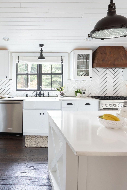 50 White Herringbone Backsplash Tile In Style White Kitchen Herringbone Backsplash Backsplash For White Cabinets Herringbone Tile Backsplash