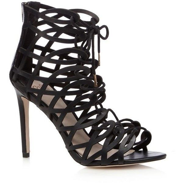 Faith Black lace up high sandals ($81) ❤ liked on Polyvore featuring shoes, sandals, laced sandals, black sandals, wrap shoes, black laced shoes and laced shoes