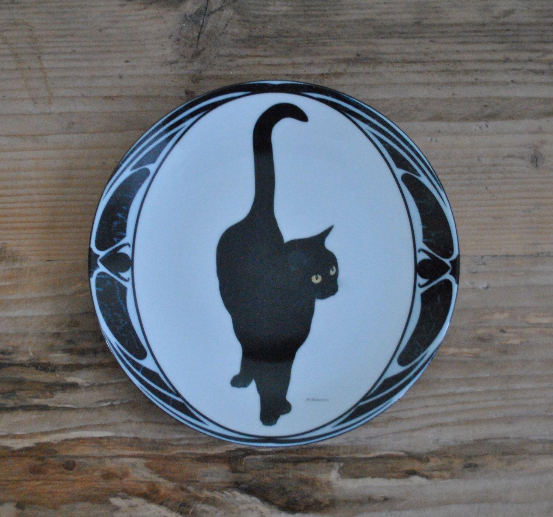 Vintage - China plate - Stolze Schönheit - Black cat - Hans Rüttimann - Bradford exchange by TheVintageCoopUK on Etsy https://www.etsy.com/listing/271502731/vintage-china-plate-stolze-schonheit