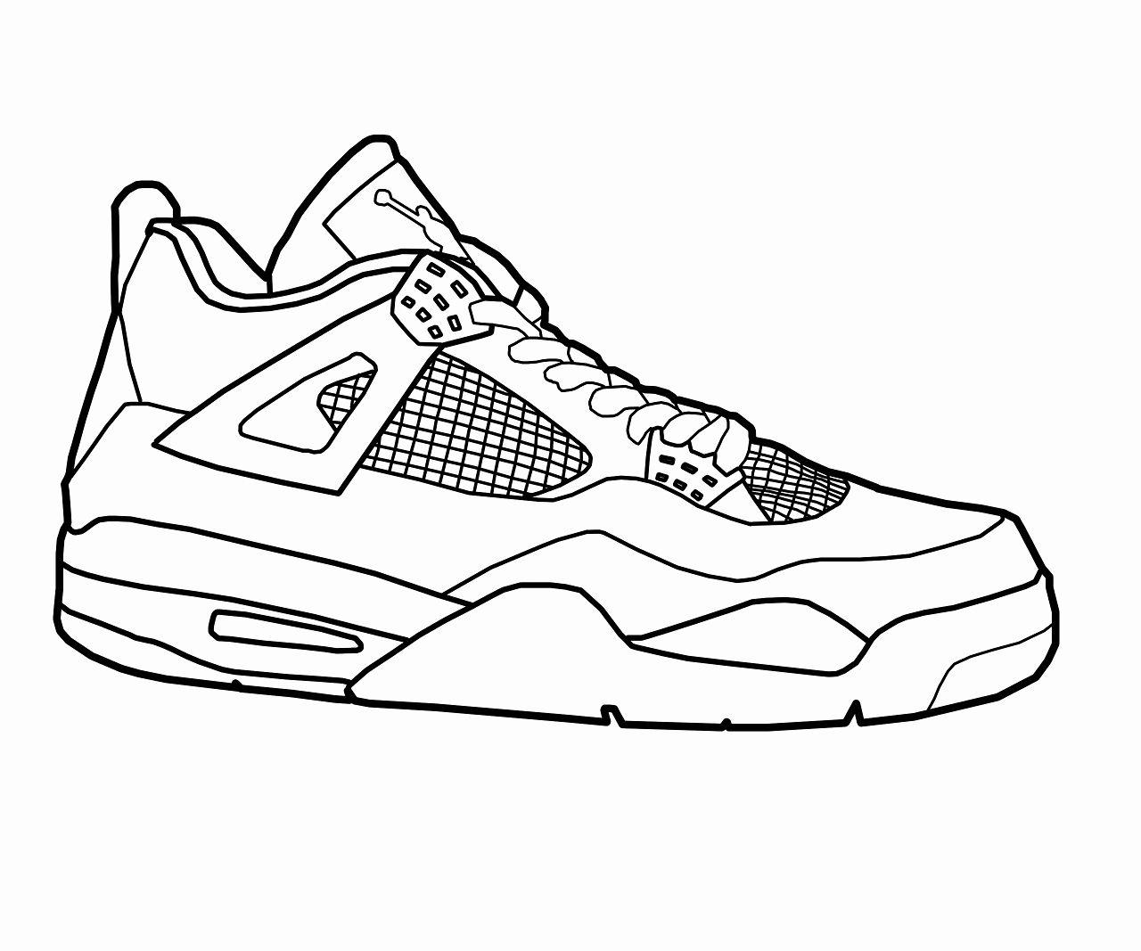 Jordan Shoe Coloring Book New Jordan Shoes Coloring Pages Coloring Home Sneakers Drawing Pictures Of Jordans Air Jordans