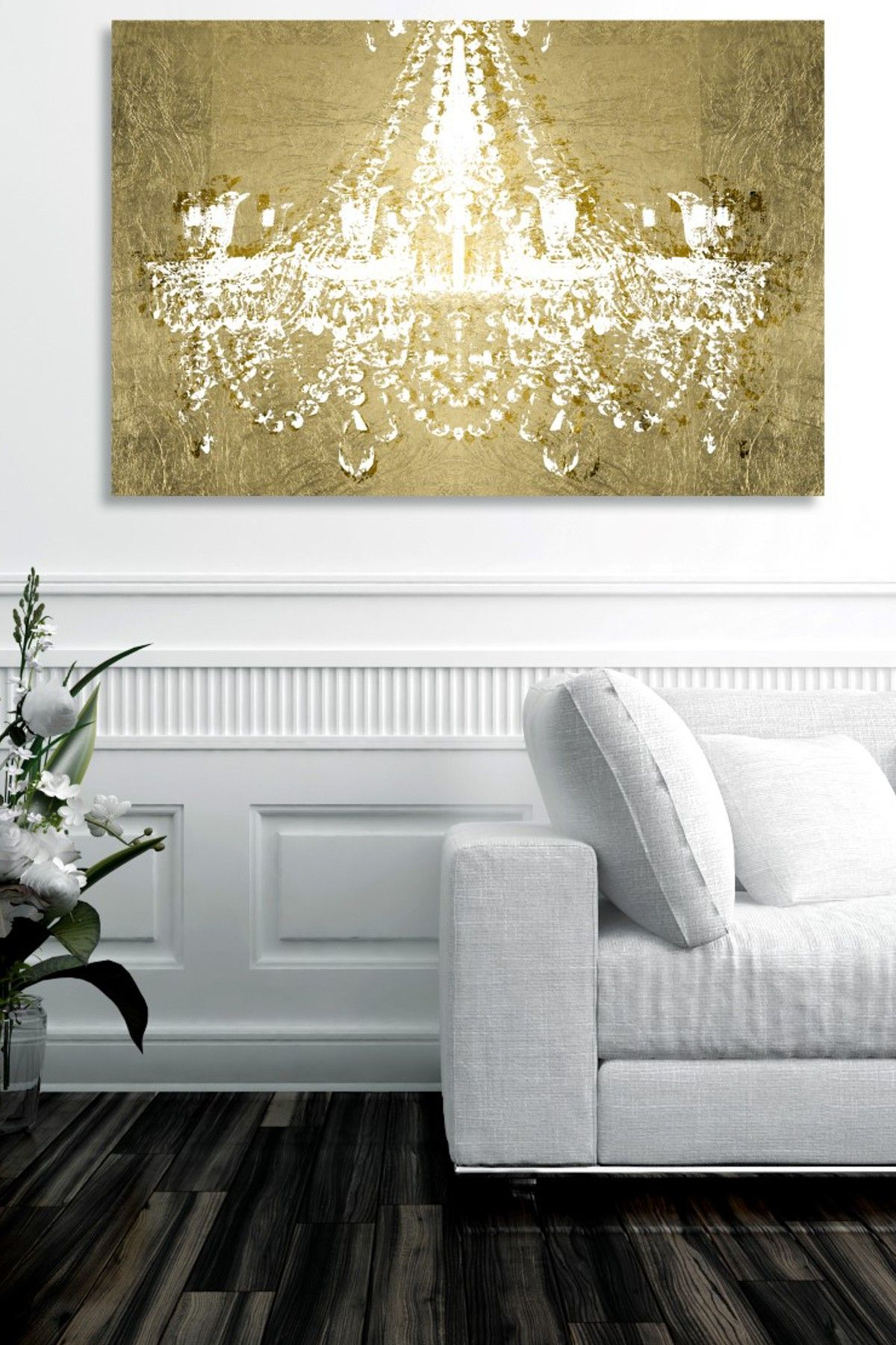 Oliver gal gallery dramatic entrance gold canvas art