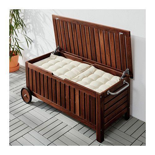 pplar banktruhe drau en braun las braun balkonien pinterest banktruhe ikea und drau en. Black Bedroom Furniture Sets. Home Design Ideas