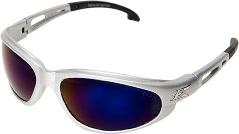 Edge Dakura Safety Glasses in Silver/ Blue Mirrored