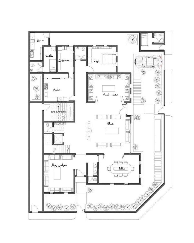 Pin By عبدالله الحلو العنزي On بيت Model House Plan Bungalow Floor Plans New House Plans