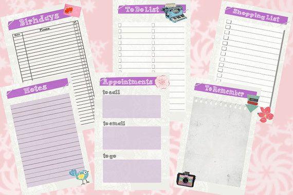 Filofax Pocket printable kit purple Home Management6 by Sorocashop