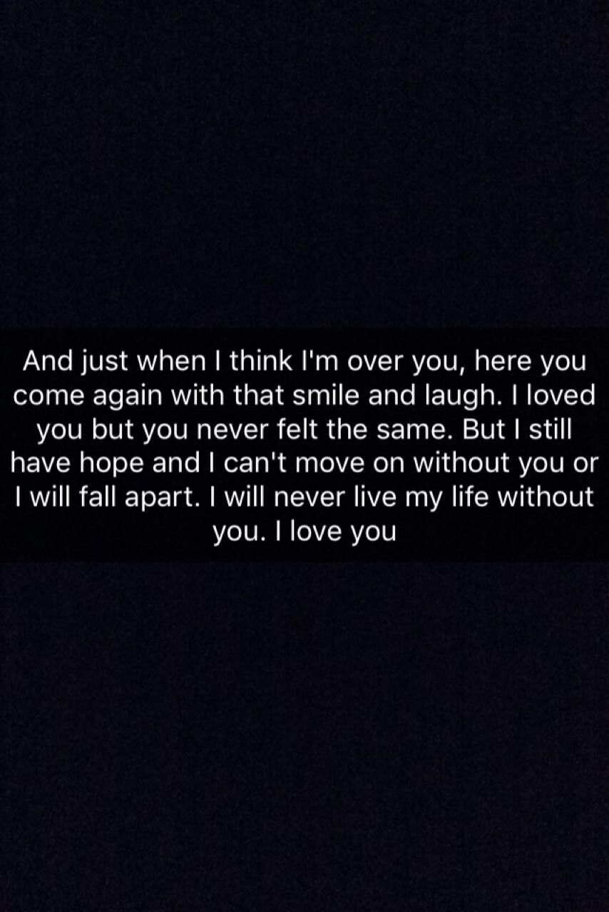 Even if we are just friends I can't live without you.
