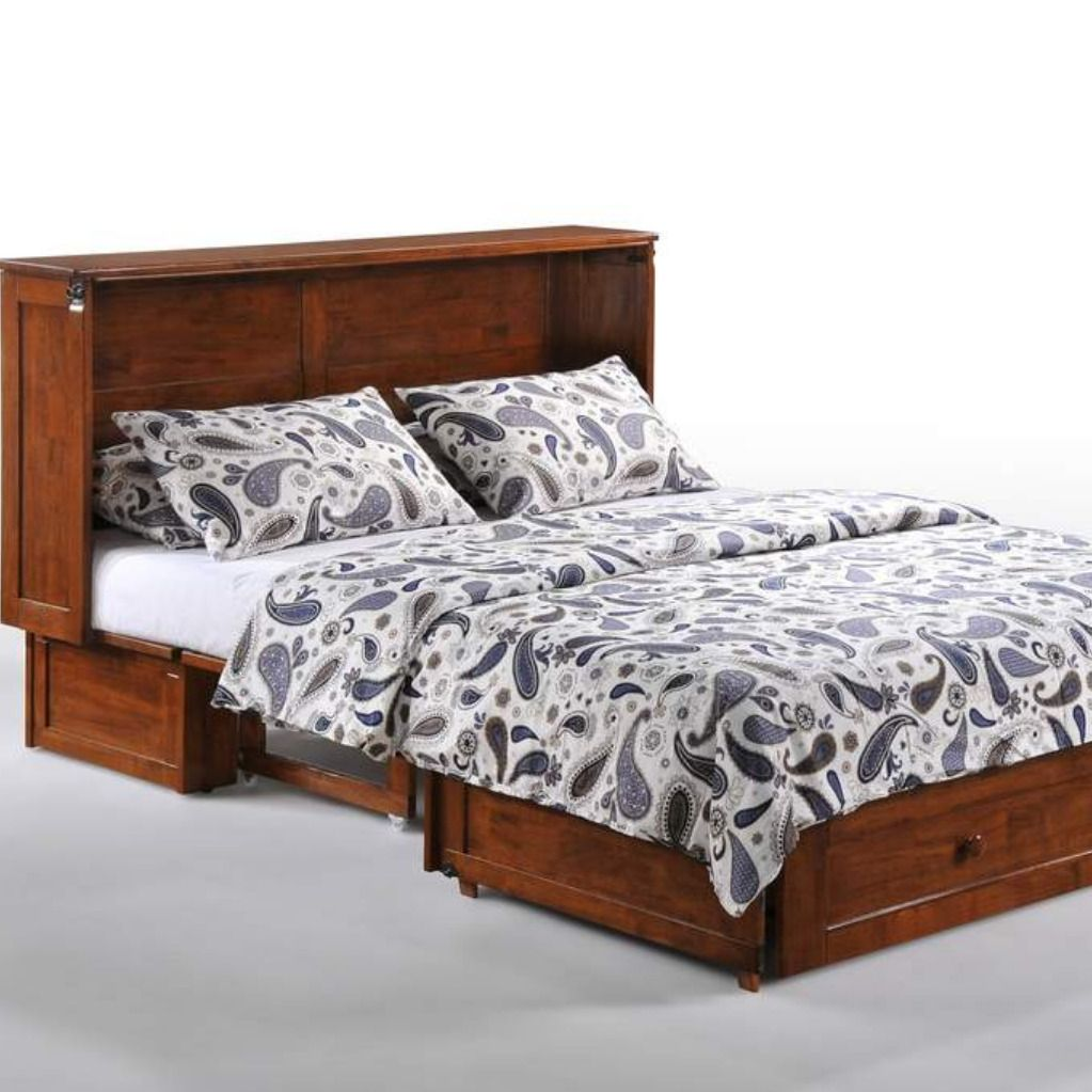 Murphy Beds with Gel Memory Foam Mattresses Stocked in