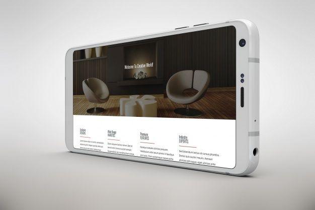 Download Download White Smartphone Mock Up Horizontal View For Free Mocking Branding Mockups Mockup