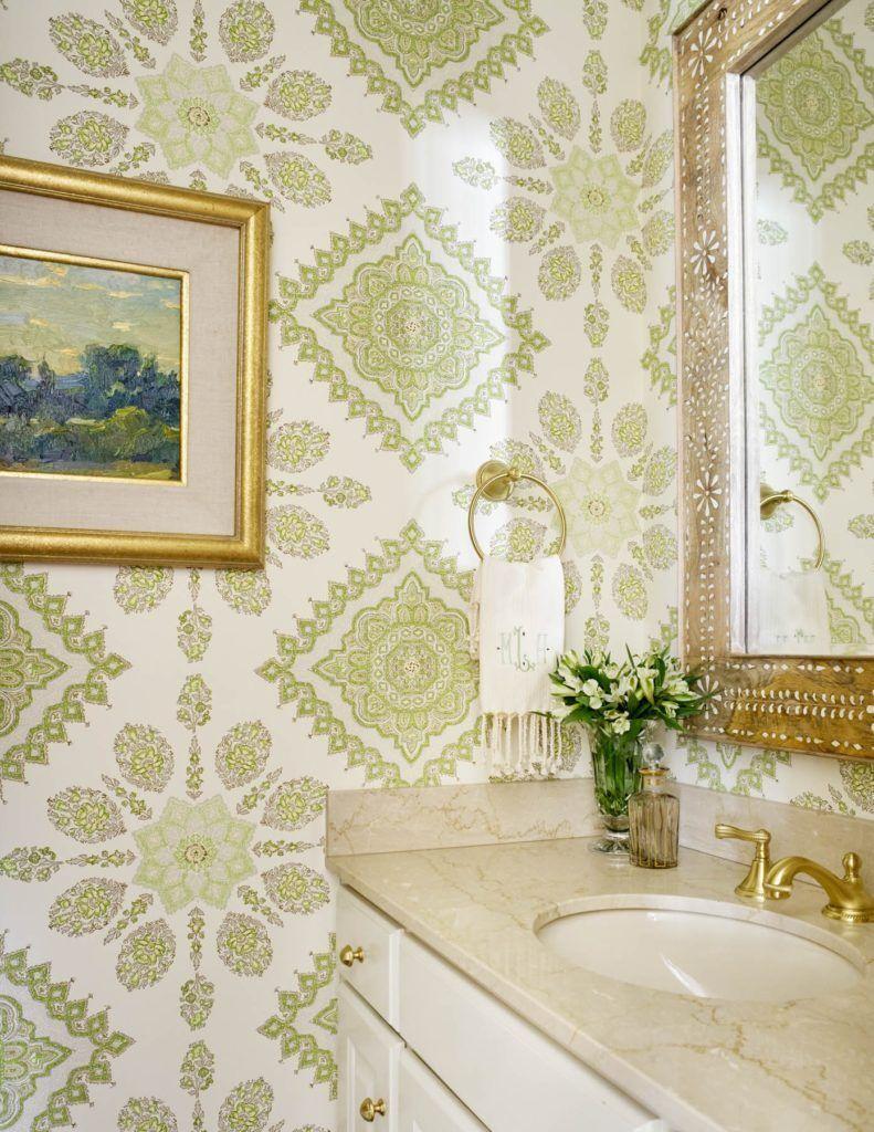 Powder Room By Amy Kartheiser Design: Powder Room Wallpaper, Bathroom