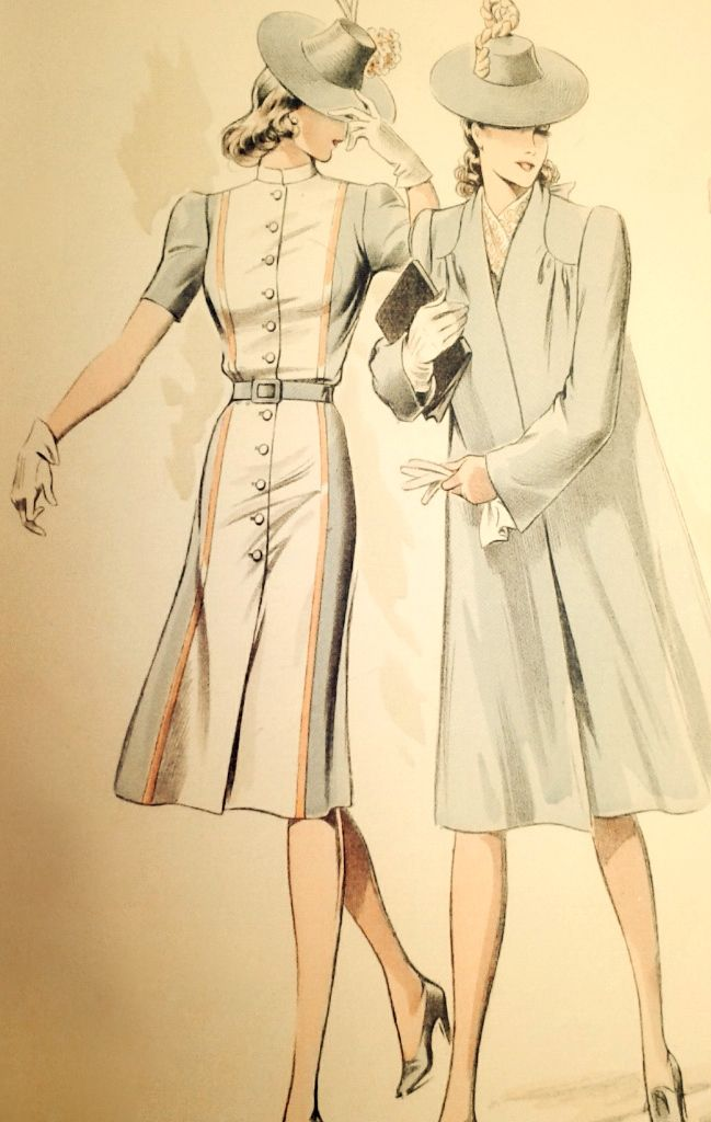 Pin von 1930s/1940s Women\'s Fashion auf 1940s Coats and Capes ...