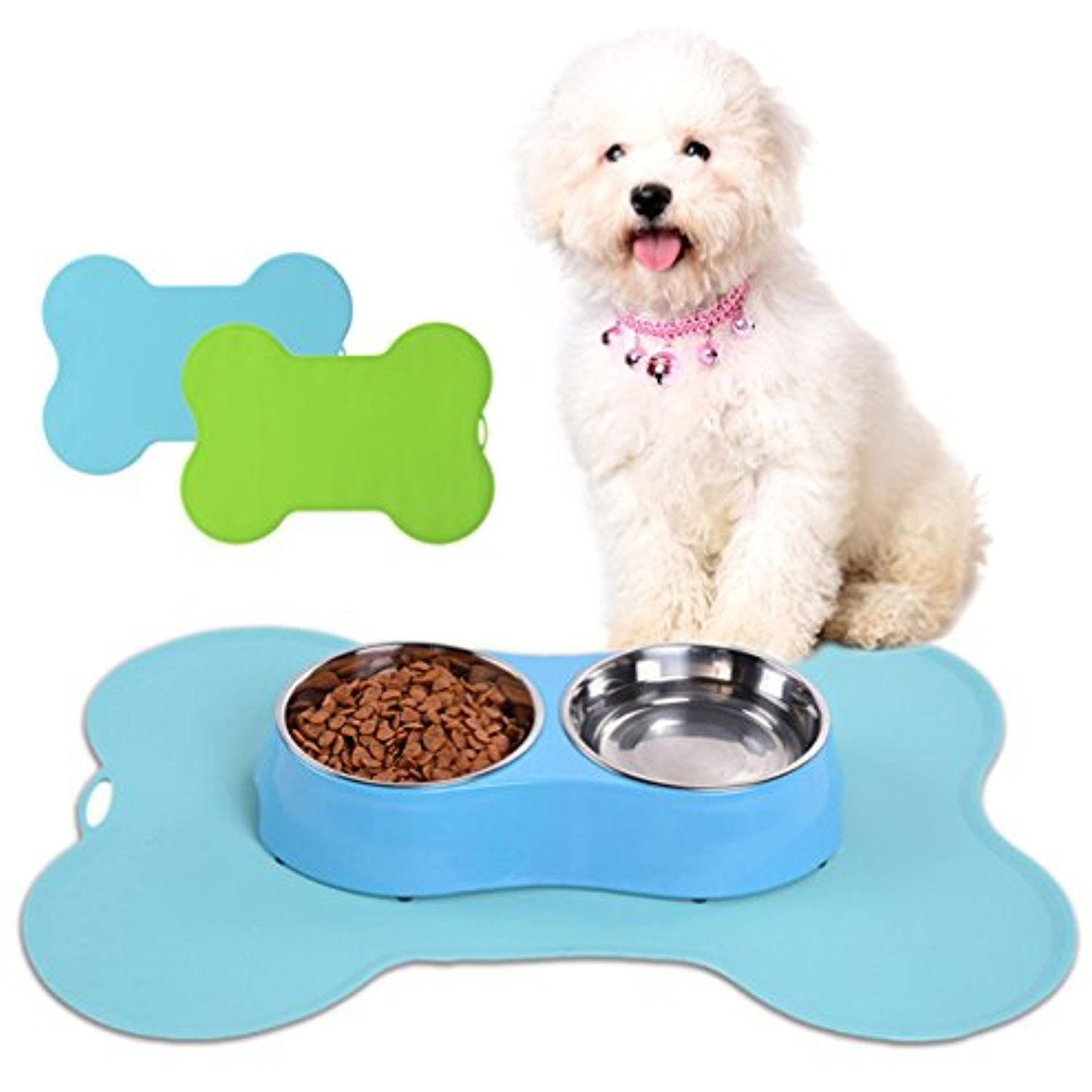 Be Good Pet Mat Flexible Silicone Pet Food Mat Non Slip Waterproof Food Grade Safe Dog Feeding Mat Dog Cat Bowl Placemat No Dog Food Mat Pet Food Mat Food Mat