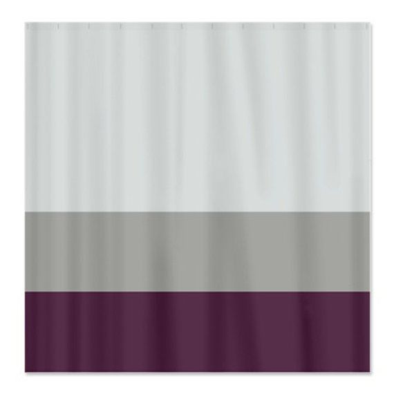 Custom Color Block Shower Curtain Light Tan Grey And Eggplant Or Choose Colors Standard Extra Long Curtain Lights Curtains Color Block Curtains
