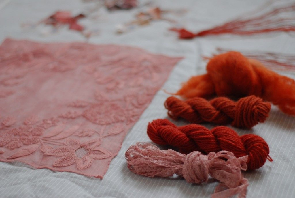 Madder on silk, wool and other fibres