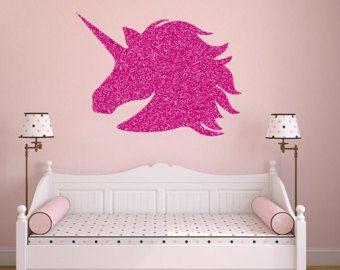 Elegant Unicorn Decal Unicorn Wall Decal Unicorn Wall Stickers