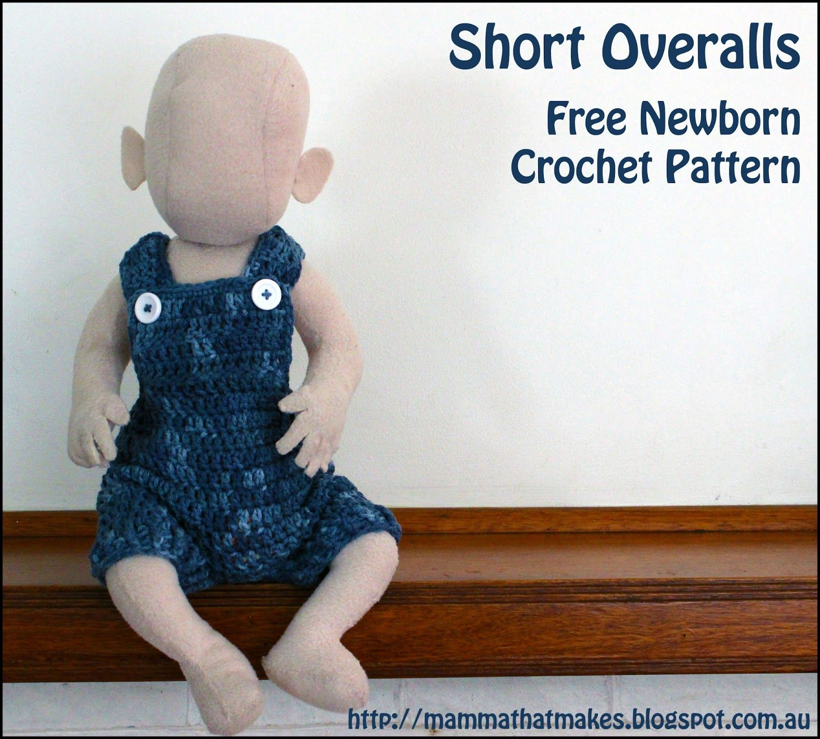 Free Short Overall Crochet Pattern by MammaThatMakes. Perfect ...