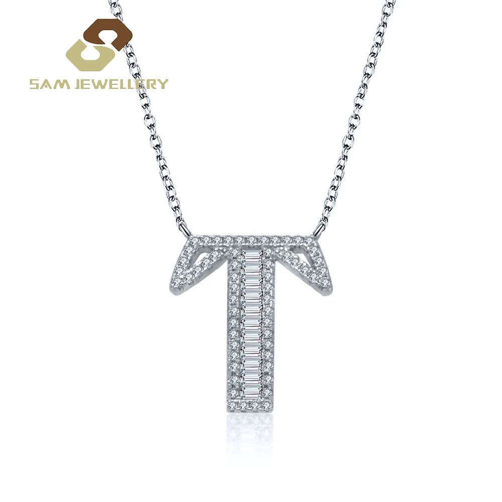 Custom Available Sterling 925 Silver Bridal S Letter T Pendant Necklace Jewelry Buy Letter T Pend Letter Pendant Necklace Letter Pendants Silver 925 Necklace