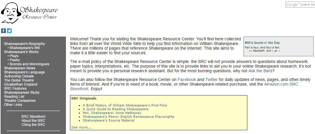 shakespeare research paper topics