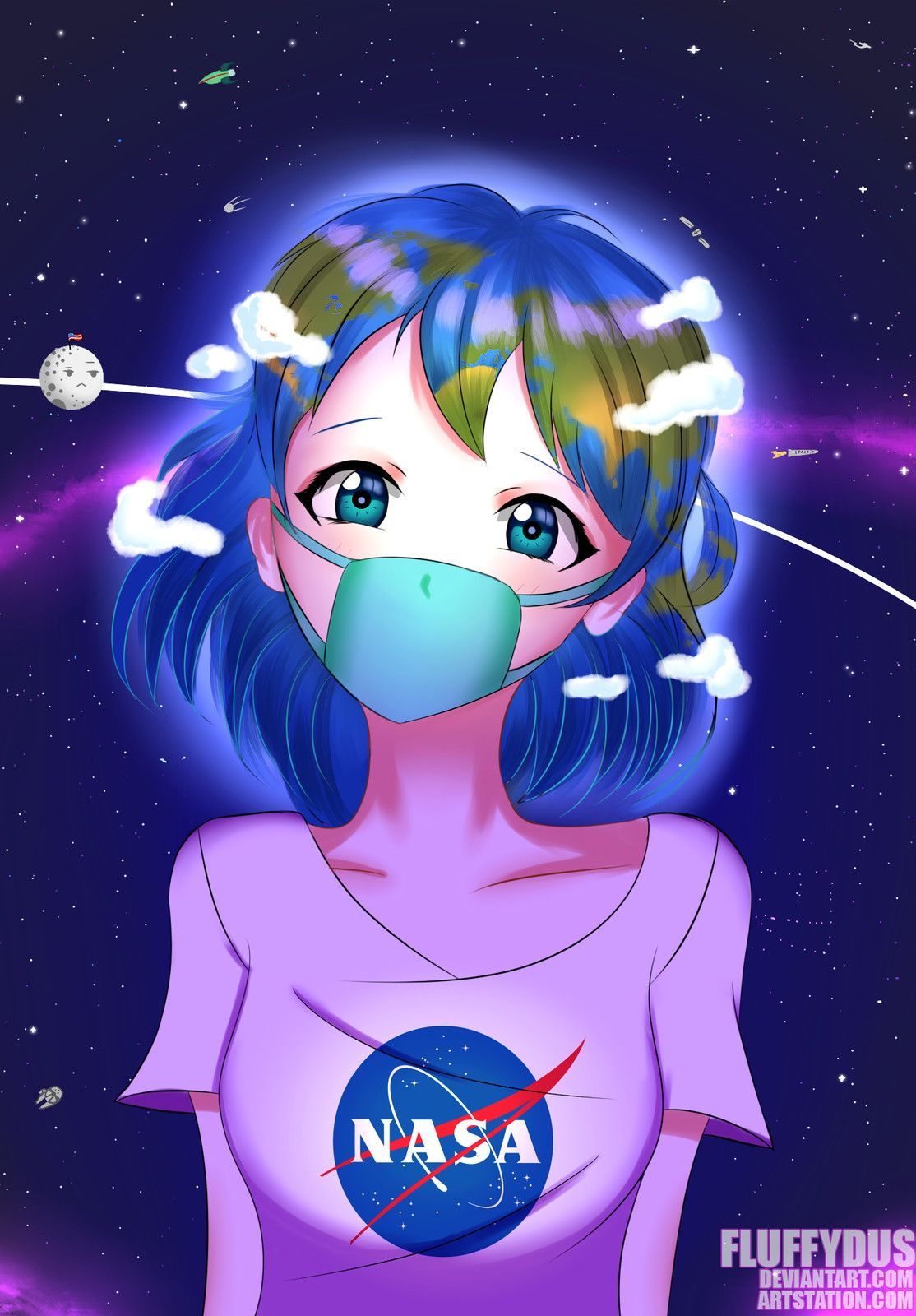 Earth-chan, Fluffy Dus
