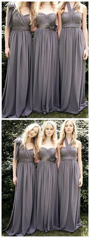 Grey mismatched bridesmaid dresseslong bridesmaid dresses cheap